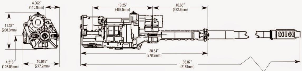 ATK M230 Cannon DIMENSIONS