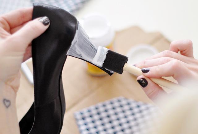 Ideias de customização - sapatos forrados com tecido