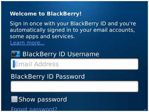 Cara Mencari Password Blackberry ID Yang Lupa