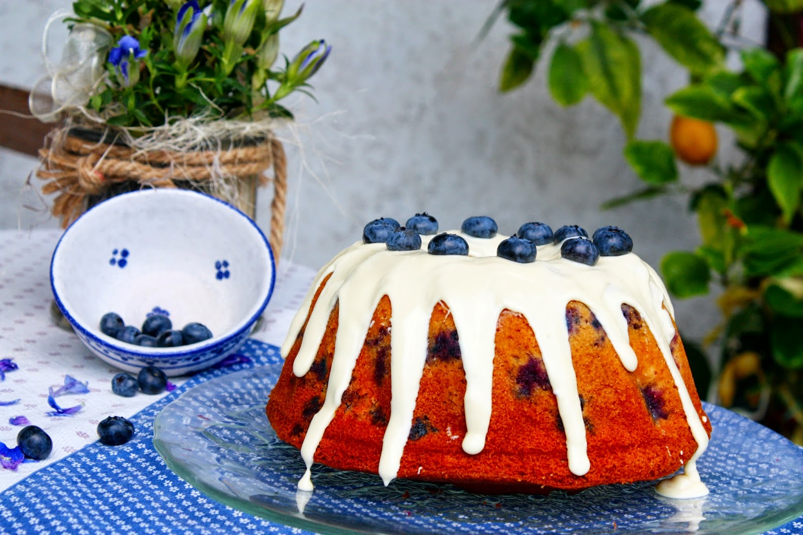 Sour Cream Blueberry Bundt