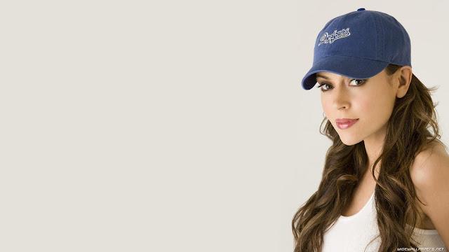Alyssa Milano Blue Cap