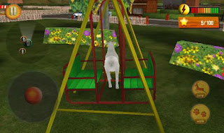 Screenshots of the Crazy goat in town 3D for Android tablet, phone.
