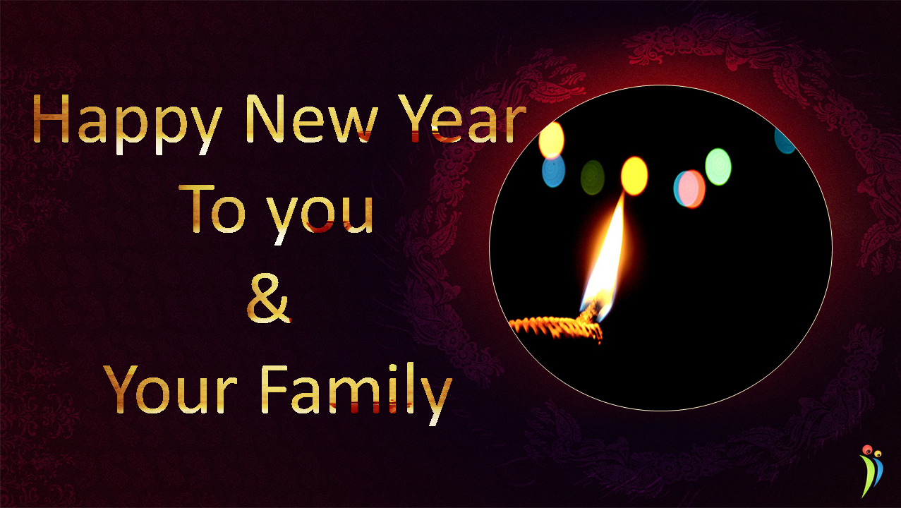 Happy Diwali And Happy New Year Wishes Wallpaper For Family Diwali