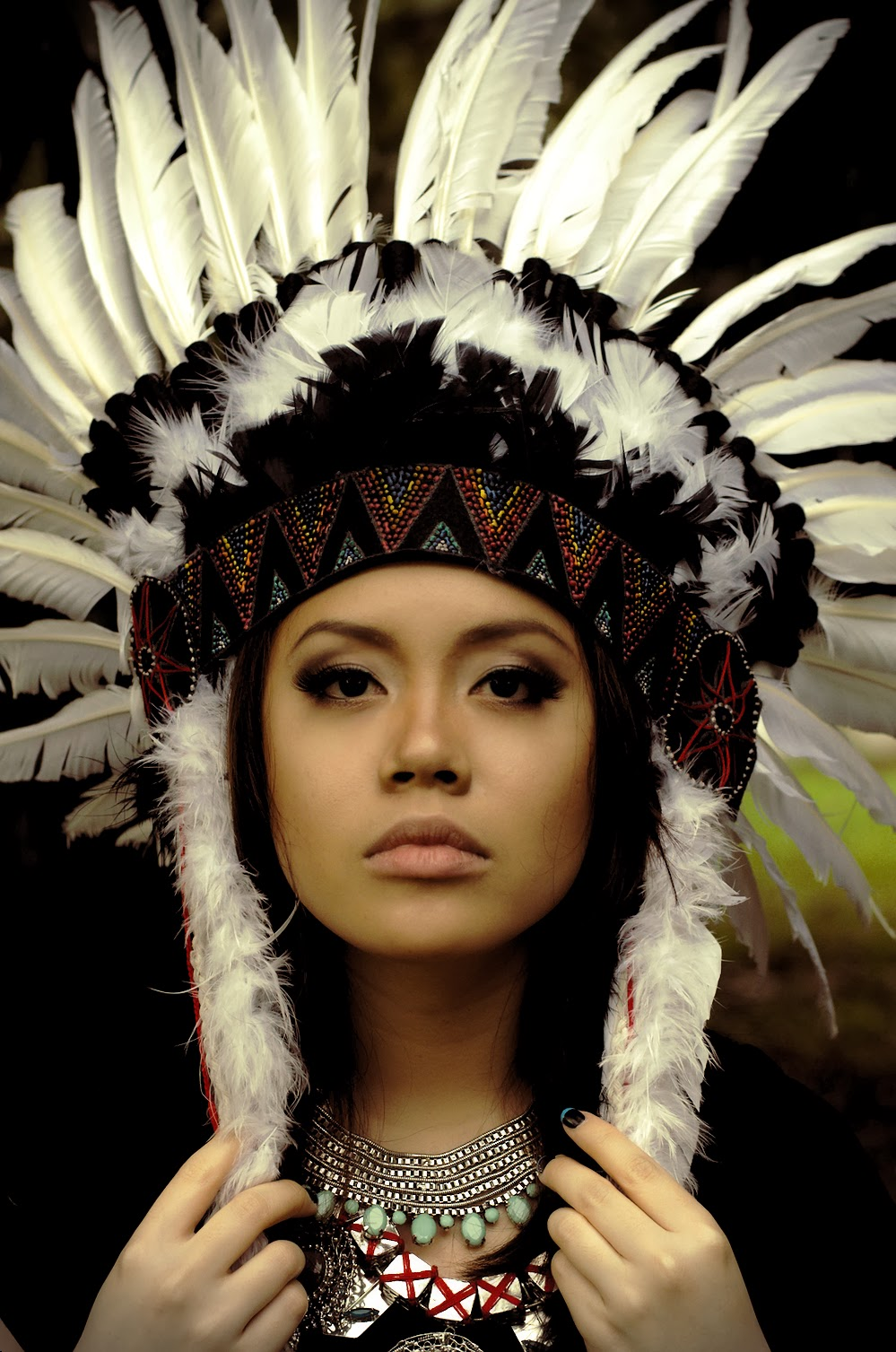 SO as promised here s how I How To Make An Authentic Indian Headdress X Men Days Of Future Past Polaris