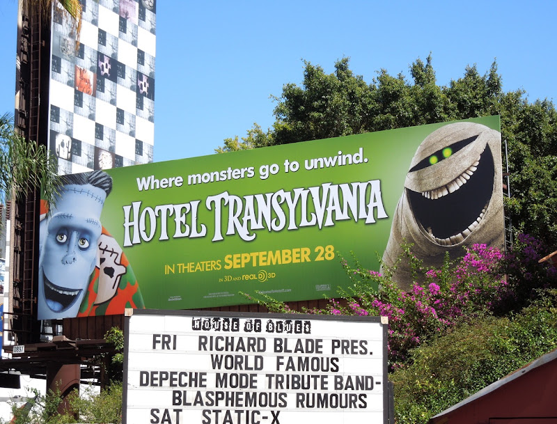 Hotel Transylvania Frankenstein Mummy billboard