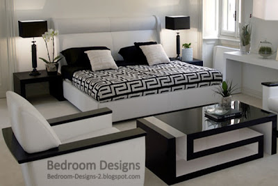 and white bedroom design ideas with modern bedroom furniture designs