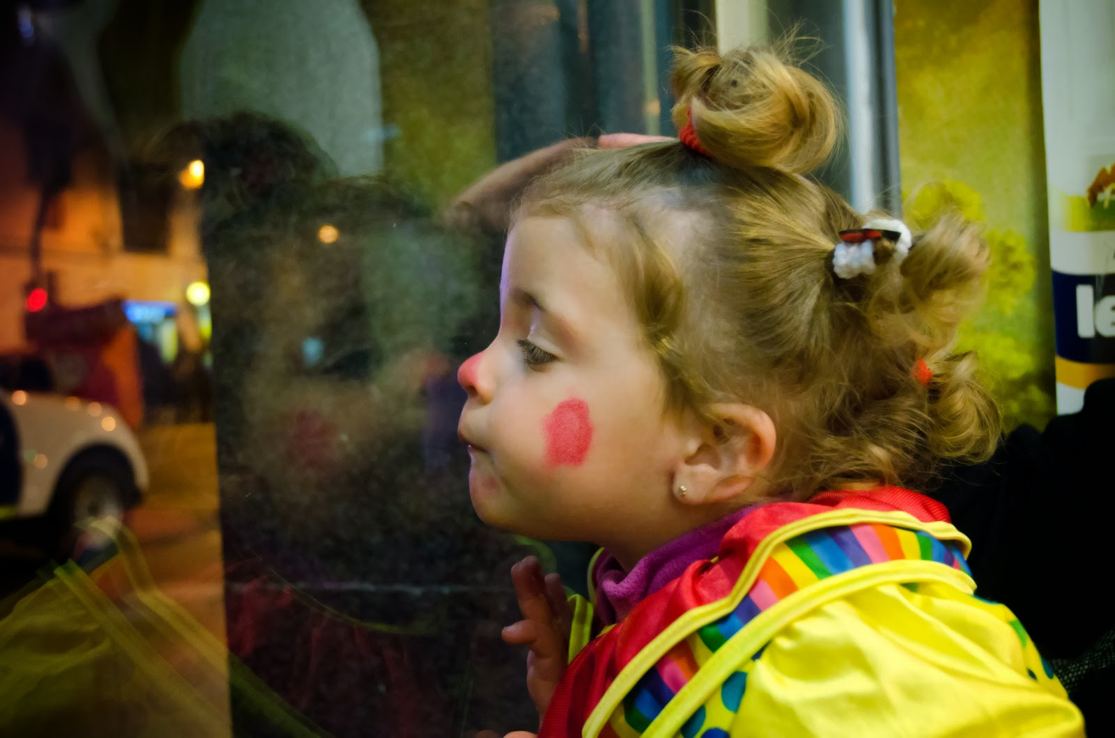 Small girl wearing costume, Barcelona