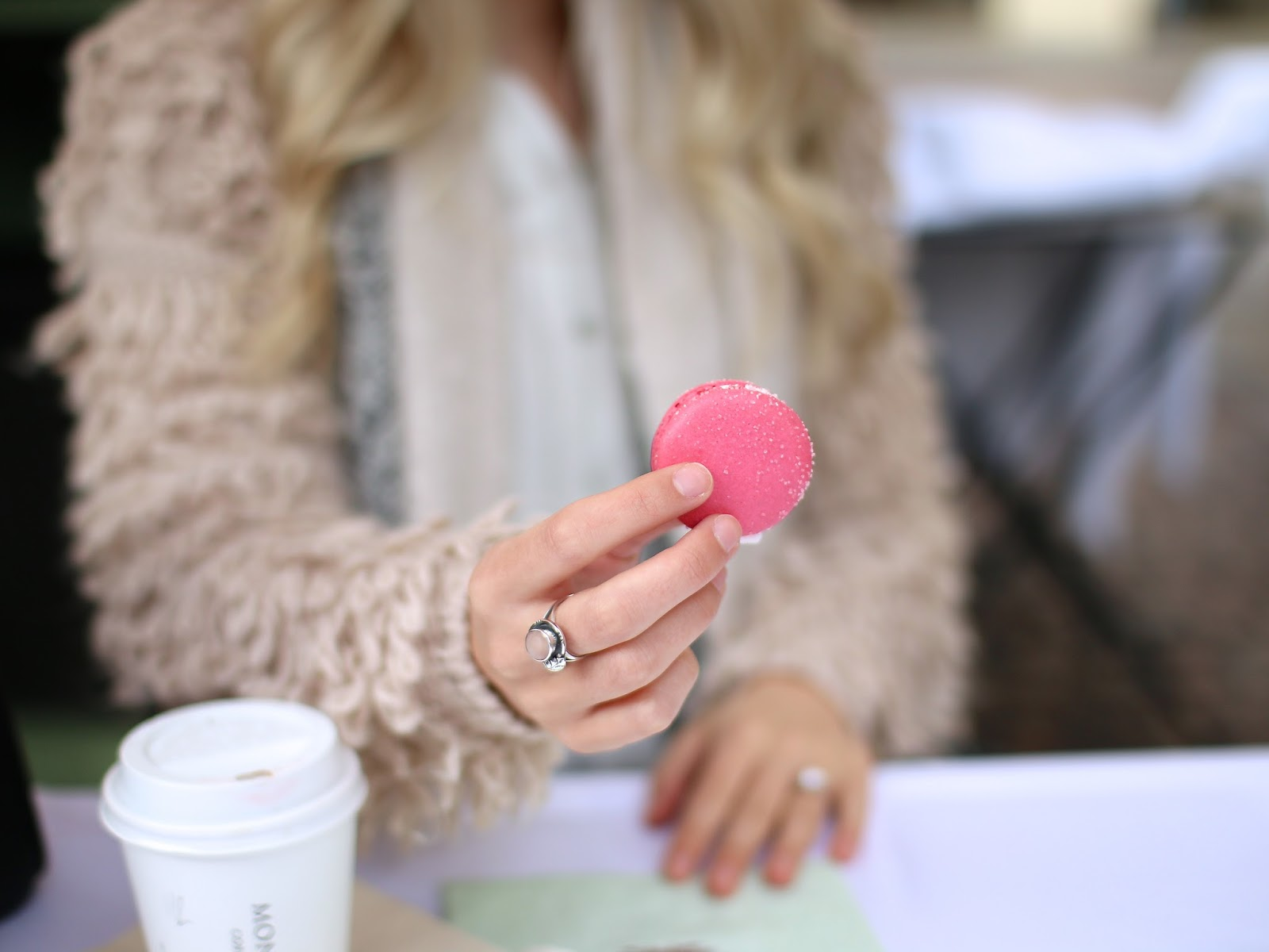 beautiful blush coloured macaroons in london