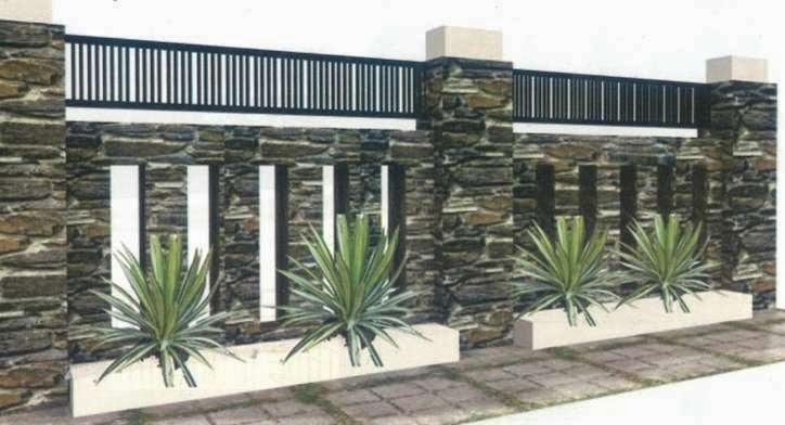 Gambar Contoh Desain Bentuk Pagar Rumah Minimalis  Rumah