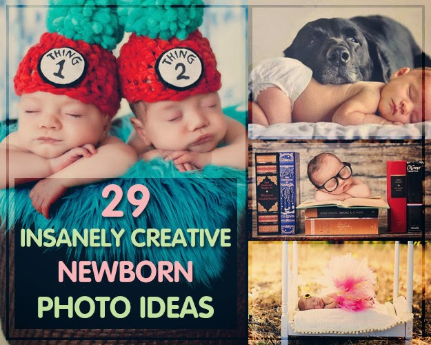 29 Insanely Creative Newborn Photo Ideas