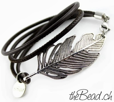 Feder Damen Lederarmband exclusive by theBead onlineshop