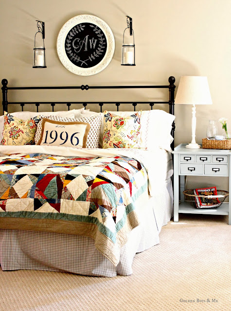 Pottery Barn multistar patchwork quilt via www.goldenboysandme.com