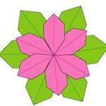 Origami Bunga Poinsettia