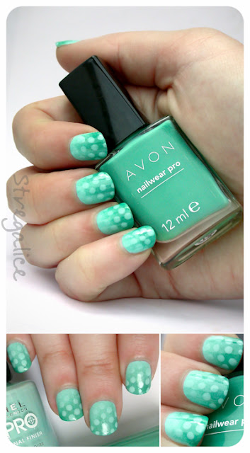 Avon Peppermint Leaf and Rimmel Peppermint- polka dots