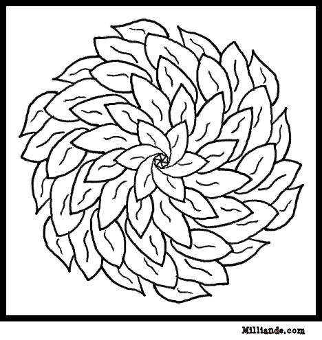 flower coloring page flower mandala coloring pages