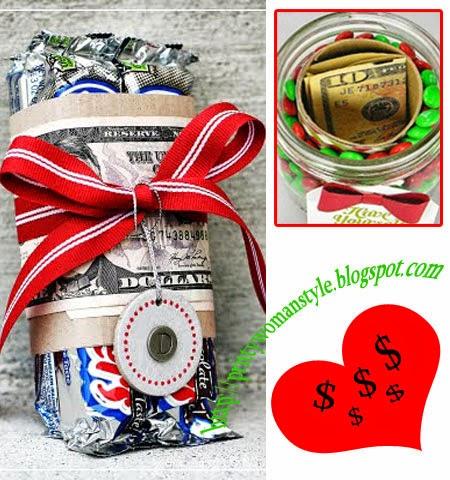 Идеи как да подаряваме пари за Коледа със сладки неща