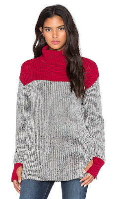 COLORBLOCK TWEED TURTLENECK SWEATER 525 AMERICA
