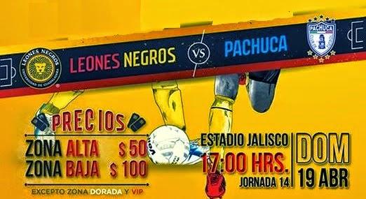 Leones Negros vs Pachuca : Liga MX 19-04-2015