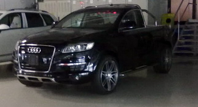 A Little Over Month Ago We Showed You Photo Of Two Door Audi Q7 Pickup Truck Wondering At The Same Time If Picture Was Real Or Result