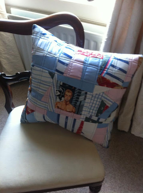 Crazy Patchwork Cushion cover on chair