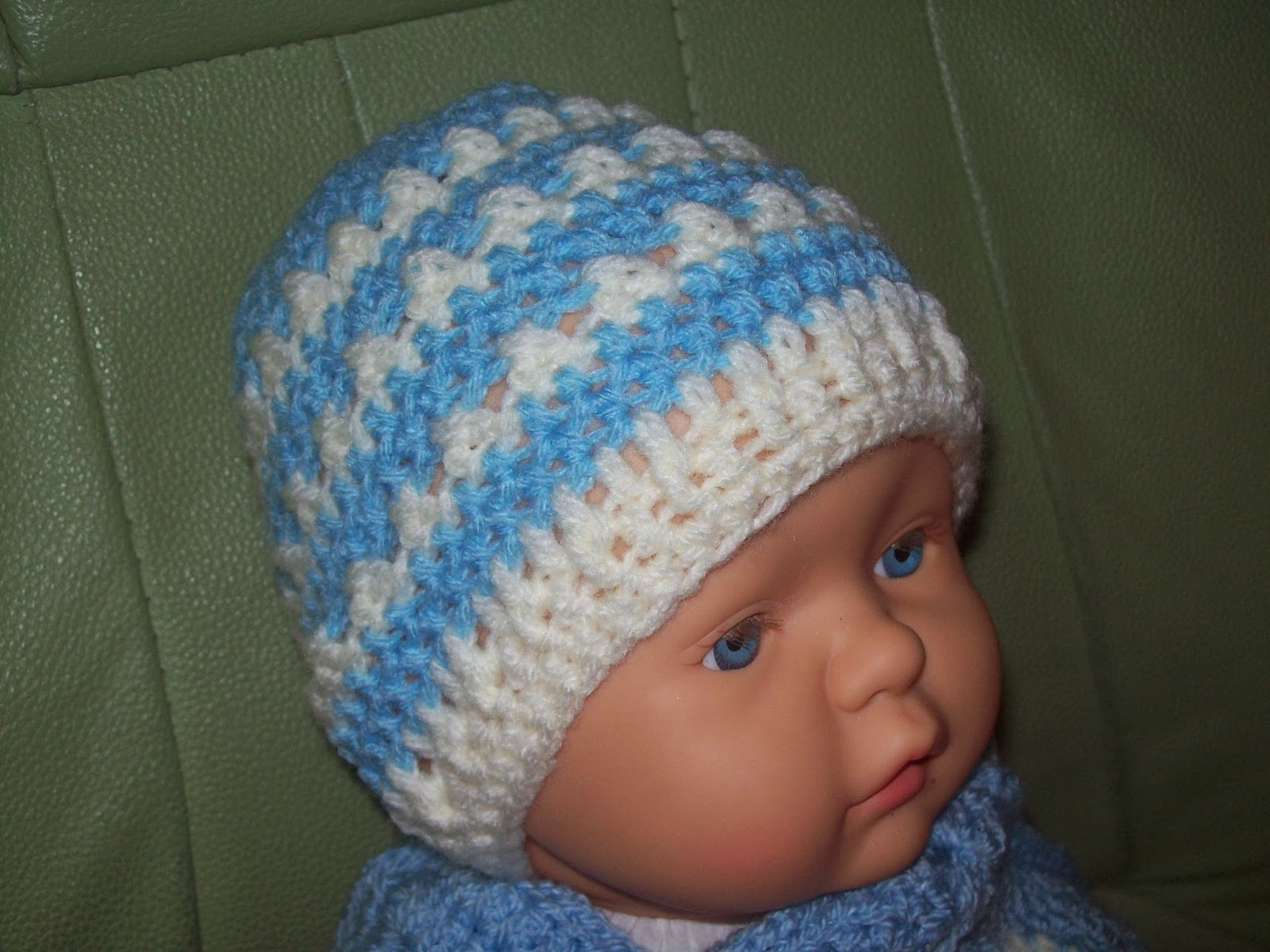 Crochet Beanie Hat Pattern For Babies : Free Crochet Patterns By Cats-Rockin-Crochet