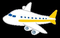 飛行機のイラスト(黄色)