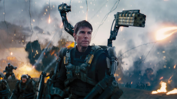 tom cruise as cage in edge of tomorrow movie 2014 hd