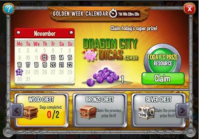 Calendário da Semana Dourada - Novidade!