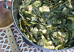 Southern Comfort Salt Pork and Collard Greens