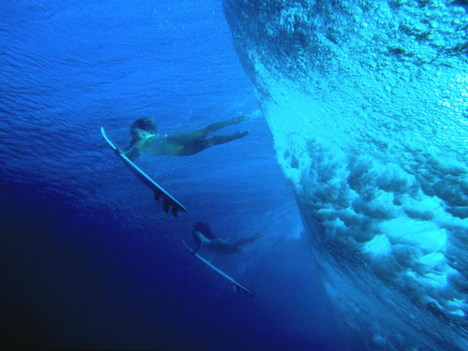 underwater surfer girl desktop - photo #11