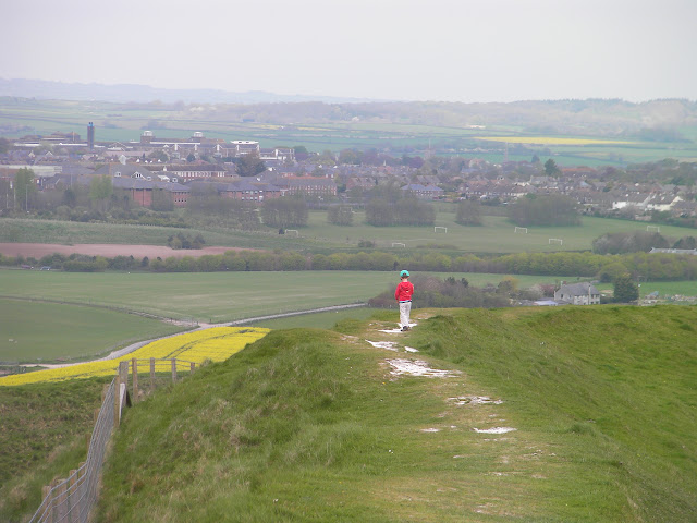 view of dorchester from defensive escarpments