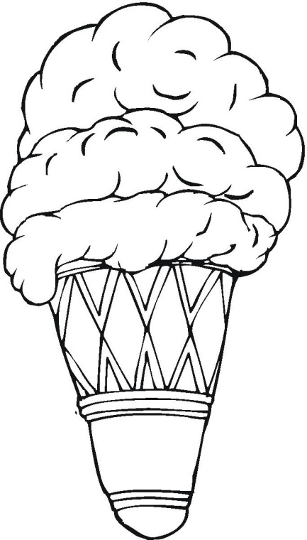 Line Art Ice Cream : Clip art line drawing kindergarten worksheet guide