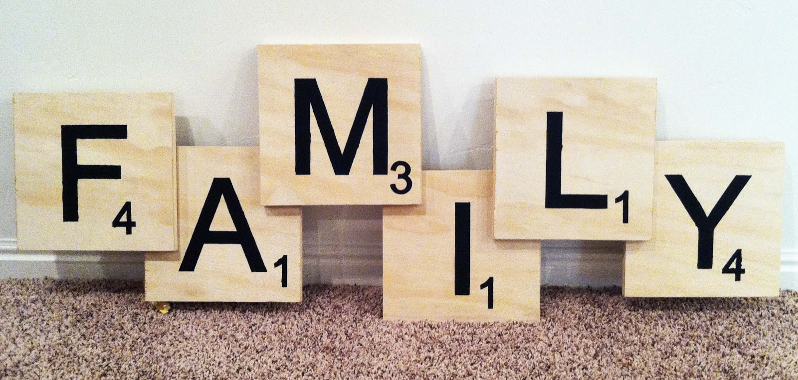 The Caldwells Family Scrabble Wall Art