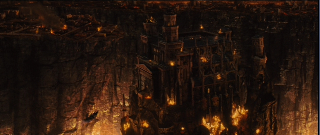 hades castle an aerial shot of what hades castle looks like from the ...