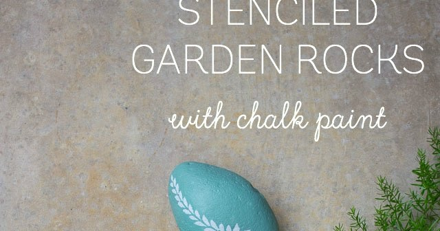 Chalk Paint Stenciled Garden Rocks Design Improvised