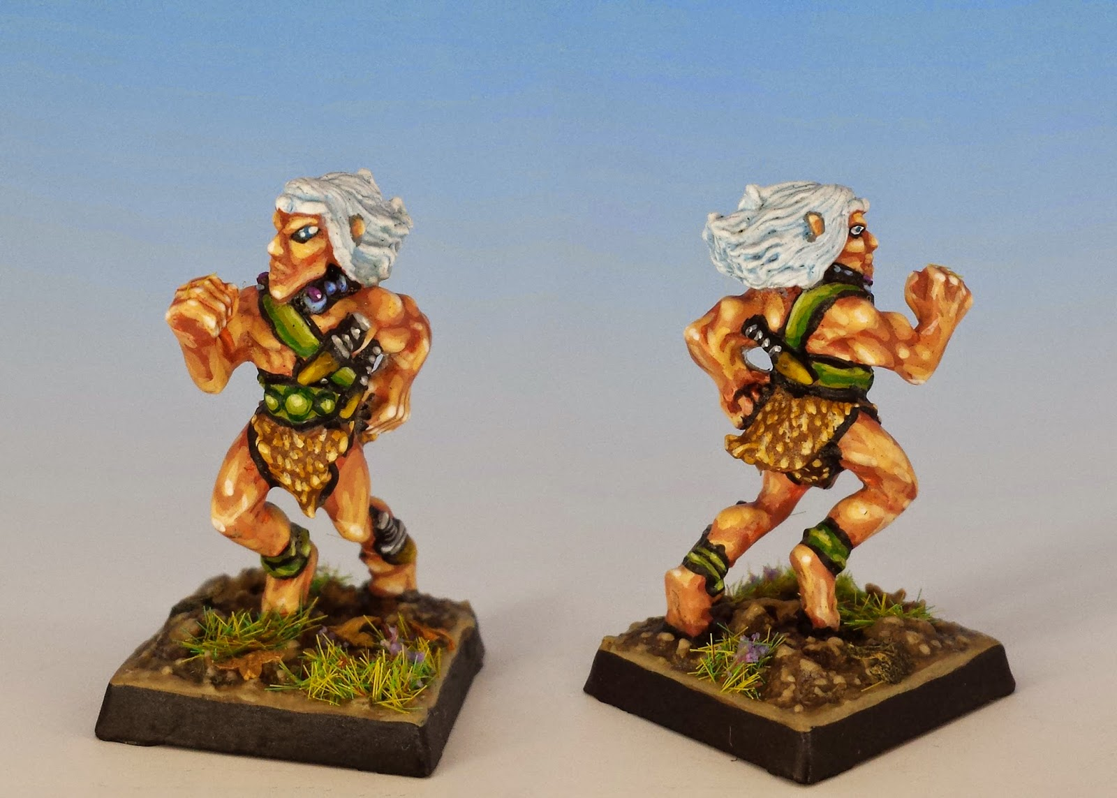 Palu Wildcat Keeper, Citadel Miniatures (1987, sculpted by Jes Goodwin, painted by M. Sullivan)