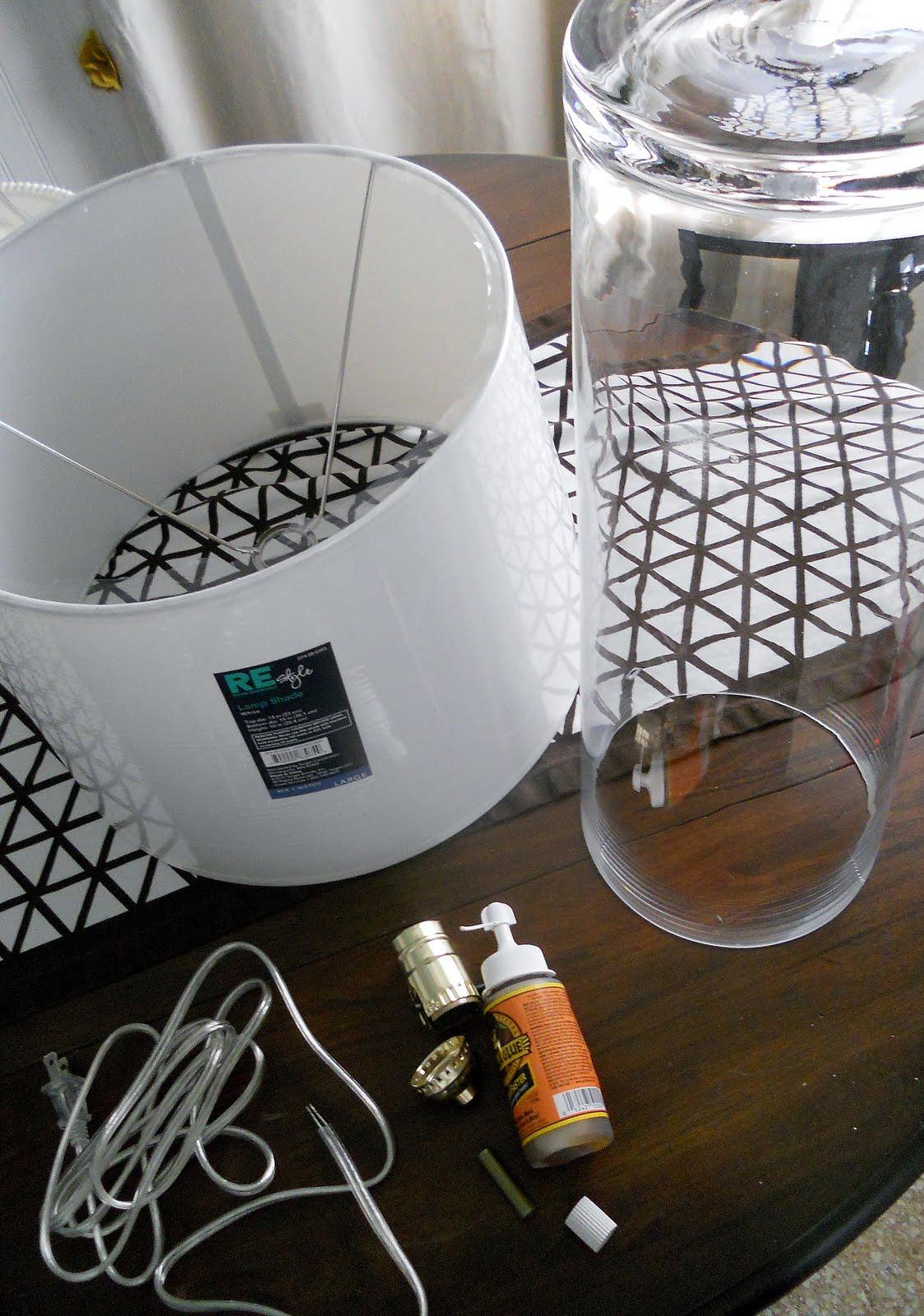 Rocky Bella: DIY Clear Glass Lamp