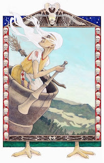Baba Yaga, Russian Fairy Tales, Baba Yaga illustration, Russian fairy tale illustration