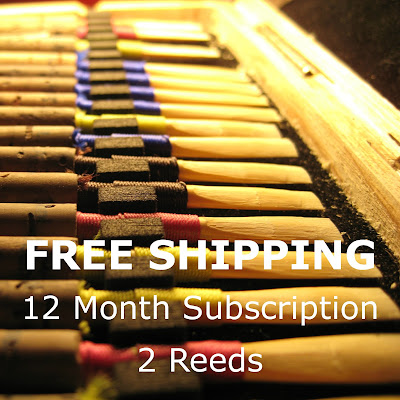 Oboe Reed Subscription, 12 months, 2 reeds, Free Shipping