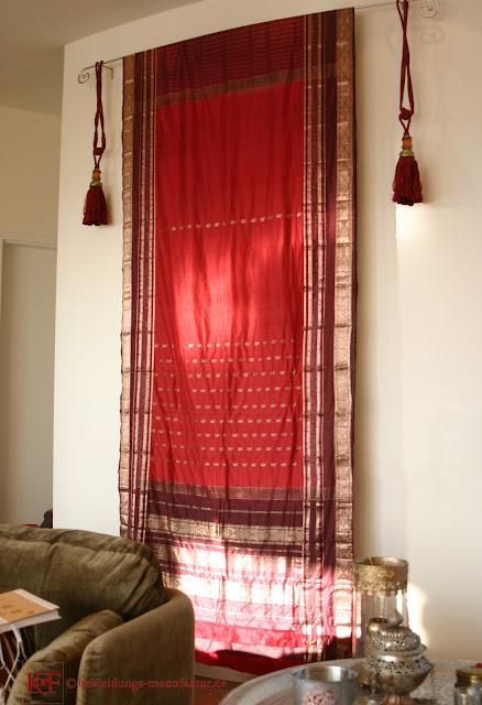 Seiden-Sari indisches Interieur Ethno-Stil