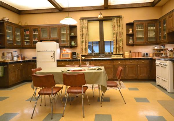 Cozinha da casa dos Bates