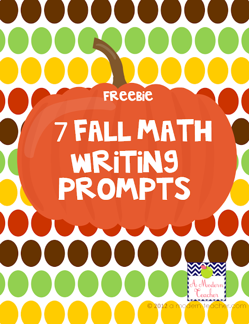 Free Writing in Math Prompts