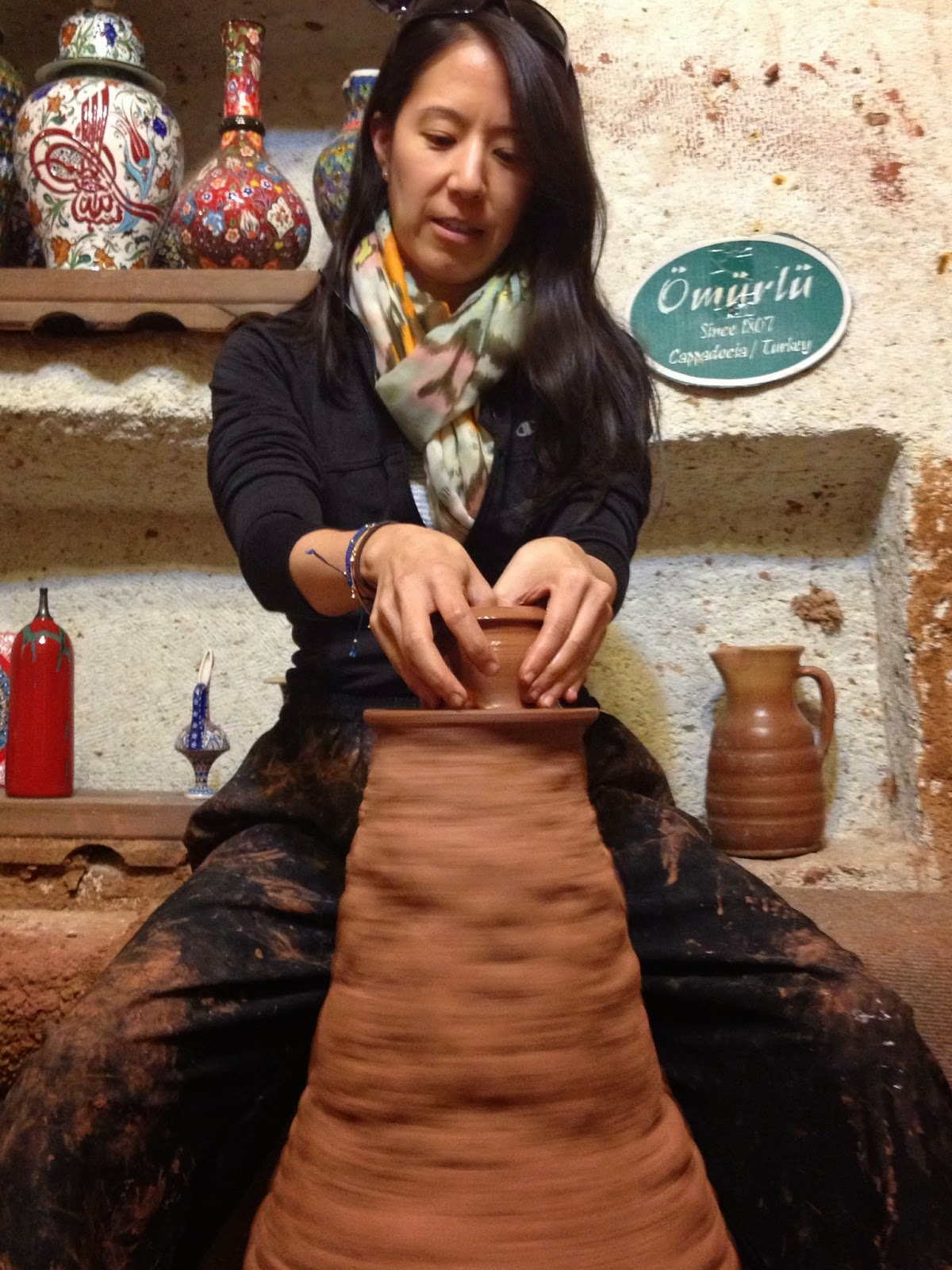 Cappadocia - We visited a pottery factory and got to try making some pottery