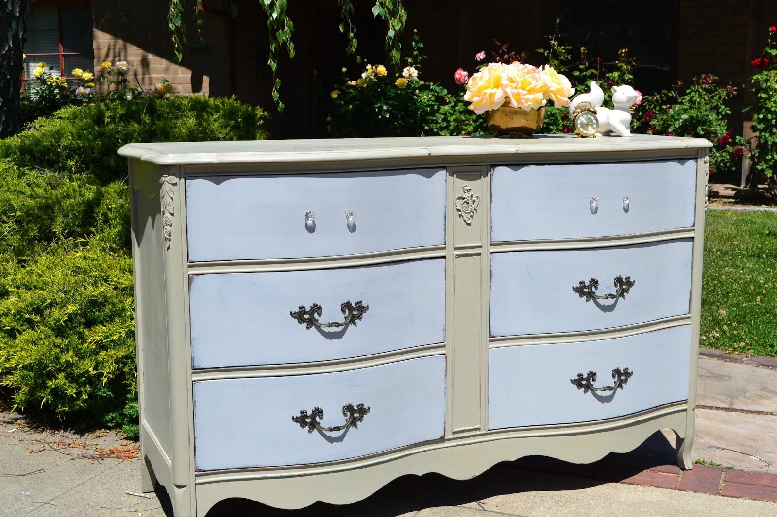 Beautiful 2 Toned Dresser With Custom Chalk Paint