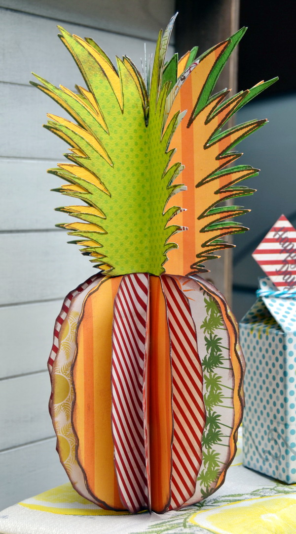 Party Decor by Denise van Deventer using the BoBunny Beach Therapy Collection and the Summertime Stickable Stencil