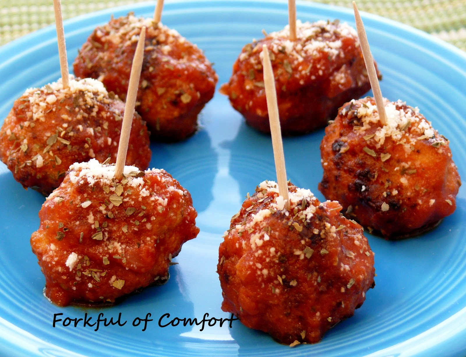 Forkful of Comfort: Chicken Parmesan Meatballs