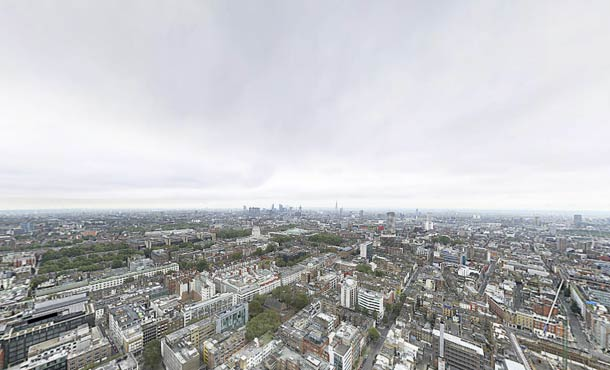 BT Tower Panorama. London 320. Gran Panorámica Esférica