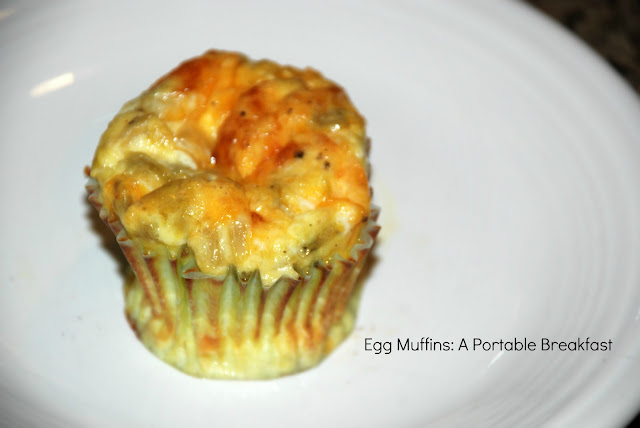 "Popcorn, Pugs & Peonies: Green Chile and Cheese Egg ""Muffins"""