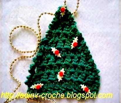 arvores de natal em croche com edinir-croche blog loja youtube
