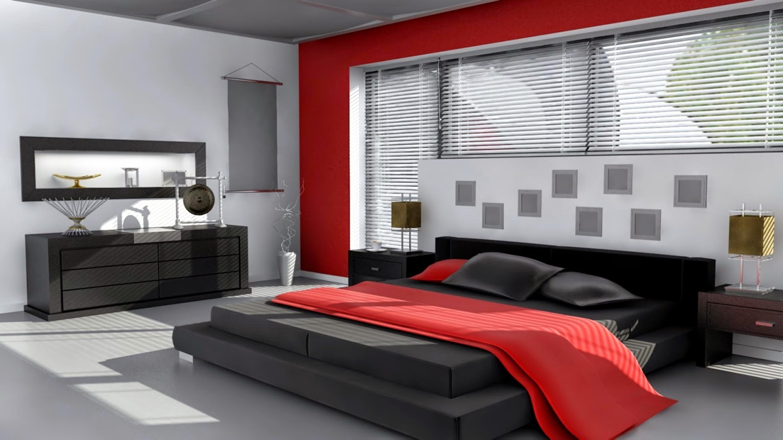 chambre rouge et noir. Black Bedroom Furniture Sets. Home Design Ideas